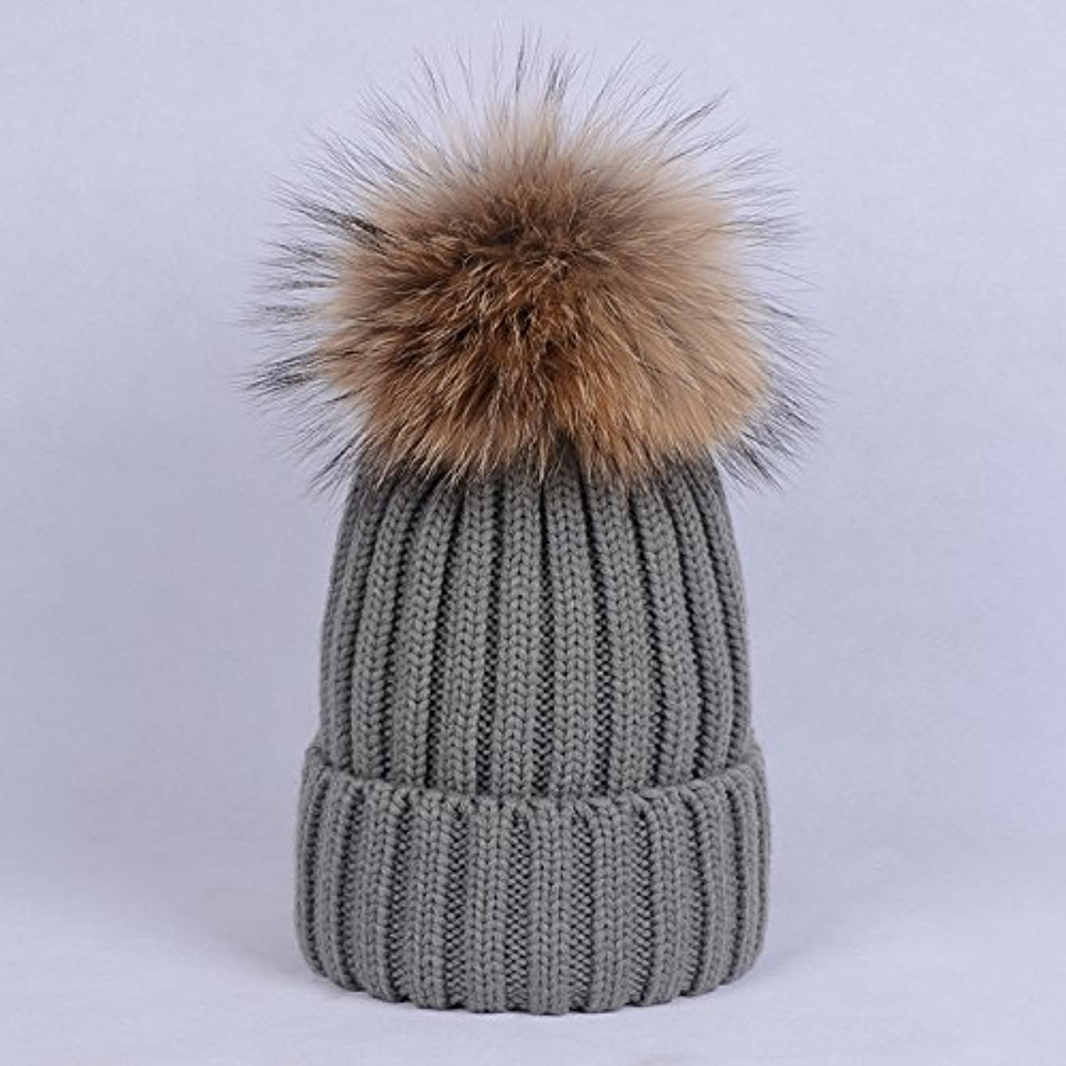 NEWC Autumn and winter hat female Nagymaros ball of wool knitted hat cap thickening