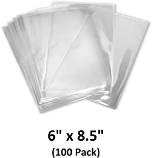Clear 100 Packs 6x8 inch,/Shrink Wrap Bags for Soap and Bath Bomb LazyMe Round End Heat Shrink Bags