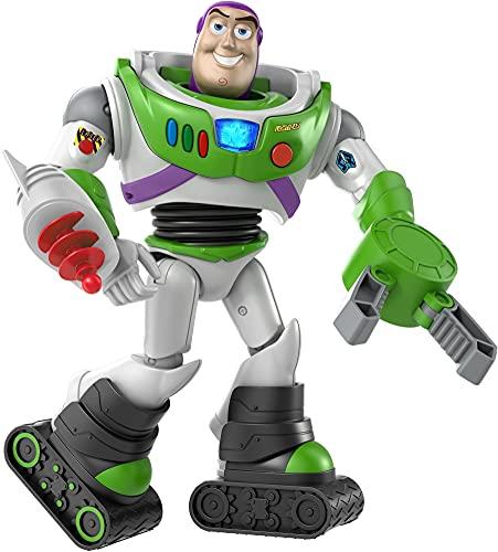 Toy Story Personaggio Buzz Lightyear, Armatura Azionabile con Luci e Suoni, Giocattolo per Bambini 3+ Anni, GJH51