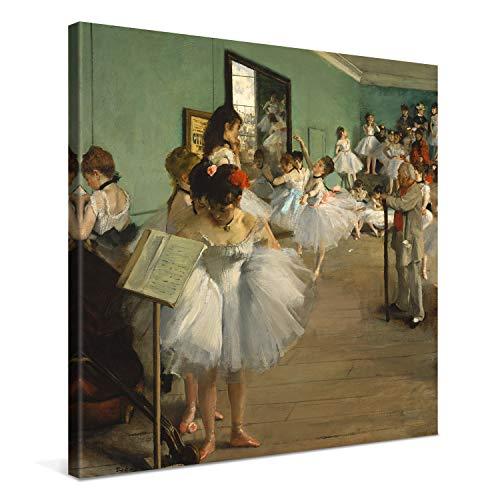 PICANOVA – Edgar Degas – The Dance Class 80x80cm – Cuadro sobre Lienzo – Impresión En Lienzo Montado sobre Marco De Madera (2cm) – Disponible En Varios Tamaños – Colección Arte Clásico