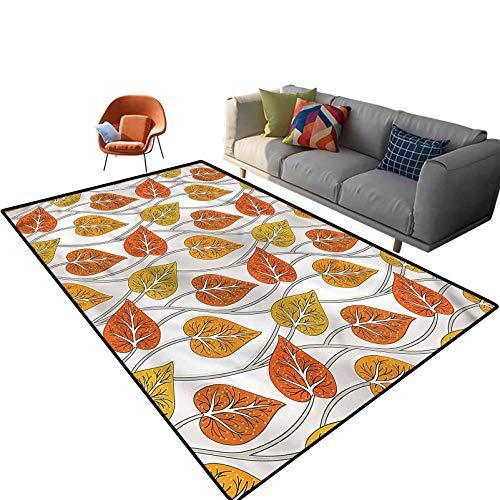 Alfombra rectangular de suelo de mostaza para interiores de 3 x 5 pies, con forro antideslizante para entrada, sala de estar, dormitorio, guardería, sofá, decoración del hogar