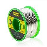 E·Durable はんだ 電気はんだワイヤー 無鉛ハンダ リール巻はんだ 糸半田 フラックス 低融点 溶接ワイヤー 鉛フリーはんだ ロジンコア 溶接用品 sn-99% ag-0.3% cu-0.7% すず/銀/銅 合金 100g 線径(1.0mm)