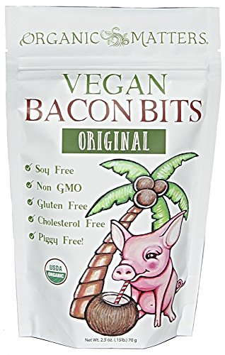 Organic Matters Vegan Bacon Bits (3 Pack) Soy Free | Gluten Free | Non GMO | Organic
