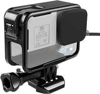 【Taisioner】GoPro HERO 5・HERO6・HERO7用 保護フレーム+シリコンキャップ 上部開閉型 第三世代 スポーツカメラアクセサリー