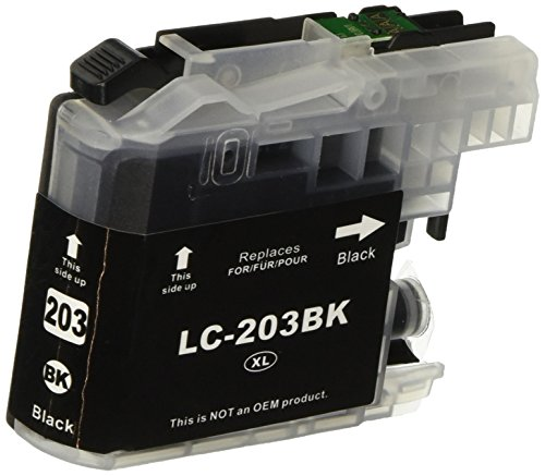 LxTek Compatible Ink Cartridge Combo Set for Brother LC203 XL 203XL (2 Black) LC203BKS for Brother MFC-J4320DW MFC-J4420DW MFC-J4620DW MFC-J5520DW MFC-J5620DW MFC-J5720DW