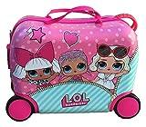 Trolley Valigia da Viaggio Lol Surprise Bambole Trainabile Cavalcabile Bambina in Abs