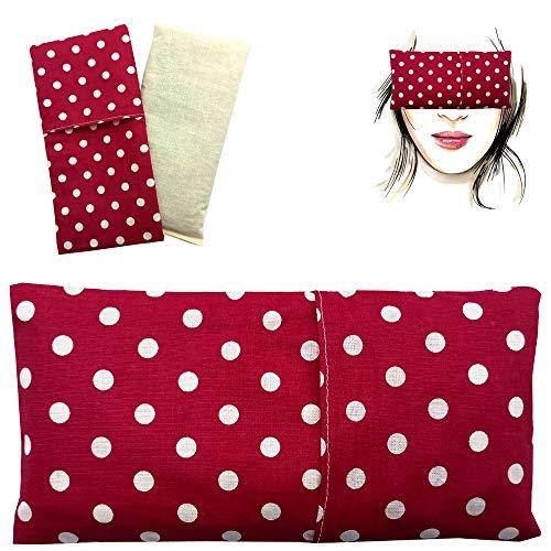 Almohada para los ojos'Alma Fucsia' (1 relleno y 1 fundas lavables) | Semillas de Lavanda y semillas de arroz | Yoga, Meditación, Relajación, descanso de ojos.
