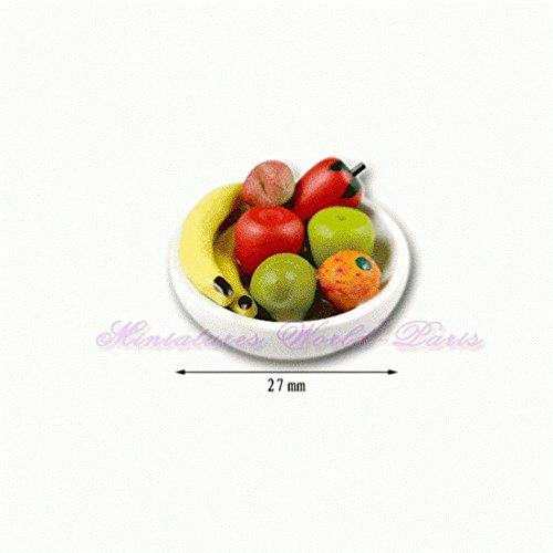 Miniatures World - Fruitschaal van polyresin voor miniatuurdecoraties en poppenhuizen in schaal 1:12