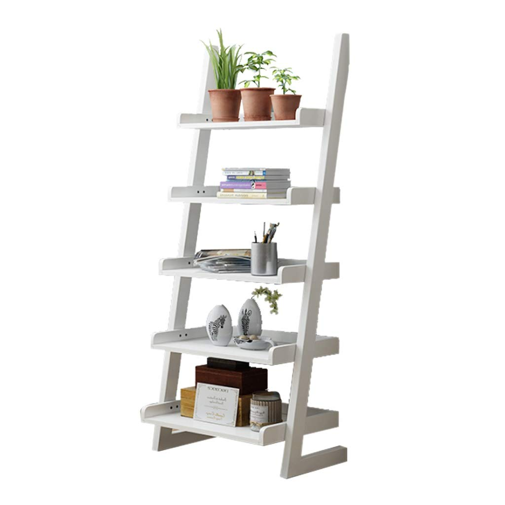Bookcases Home Etagere Bookcase Display Unit White Bookshelf With 6 Open Shelves 51 Inch L X 48 Inch H