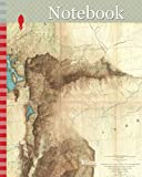 Notebook: 1855, Map of Patagonia, Argentina, Falkland Islands