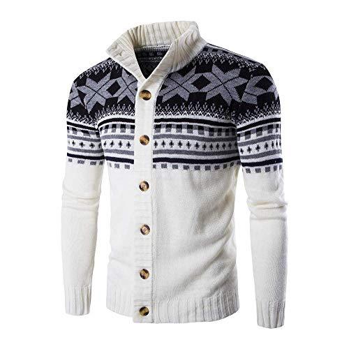 Vest Trui Mannen Kleding Effen afdrukken Sweater Knitwear Jassen Noorse Stand Modieuze Completi kraag Sweater