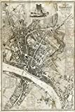 // TPCK // Vintage Map of Newcastle From 1833 Fotodruck