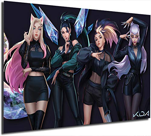 Coobal League Legends - Póster para pared (61 x 91 cm), diseño de Kda 2020 Ahri Kaisa Akali Evelynn The Baddest Painting and Prints de The Baddest
