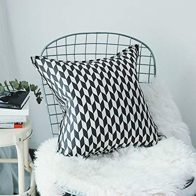 tomar hasta un 70% de descuento Fundas de colchón Almohada del del del sofá del Coche de la Almohada del Dormitorio de la Sala de Estar del Dormitorio del Lino del algodón geométrico blancoo y Negro (tamao  47x47 cm) Funda de Almohada para  n ° 1 en línea