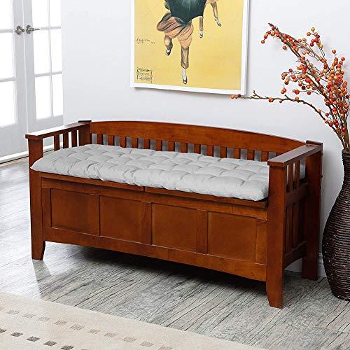 Homay - Cojines de asiento extra suaves acolchados para bancos de jardín, tumbona, cojín antideslizante para sofá de 2 o 3 plazas
