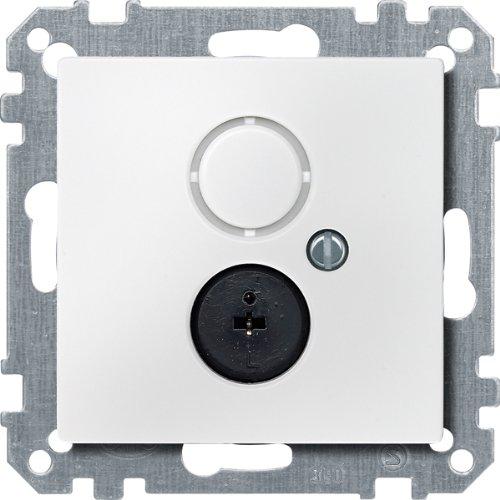 Merten 297419 Lautsprecher-Steckdosen-Einsatz, polarweiß, System M