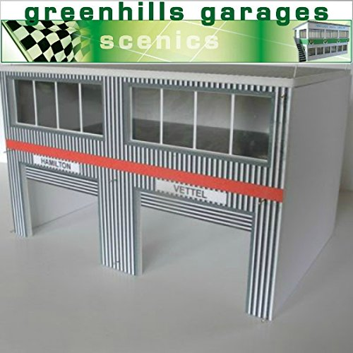 Greenhills Scalextric Slot Car Building Modern Pit Boxes Kit 1:43 Scale