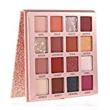 Beauty Glazed Pearly Shiny Eyeshadow Palette, Matte Pearlescent Eye Shadow Charming Metallic Nude Eye Shadow Palette Makeup Powder High Pigmented Eyeshadow Kit 16 Colors # 01