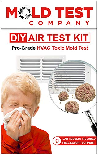 HVAC Mold Test Kit | Professional Grade Kit Tests up to 10 Locations for Air Mold and Toxins | Easy DIY Test Kit with Lab Analysis Included