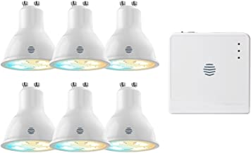 Hive Light Cool to Warm White Smart Bulb with Hub GU10, 5.4 W-6 Pack