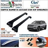italfodere Barre da Tetto Jeep Compass dal 2016 Portatutto Portapacchi GEV...