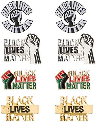 8pcs Black Lives Matter Enamel Lapel Pin Set 6pcs Alloy Raised Fist Enamel Pins in 3 Styles product image