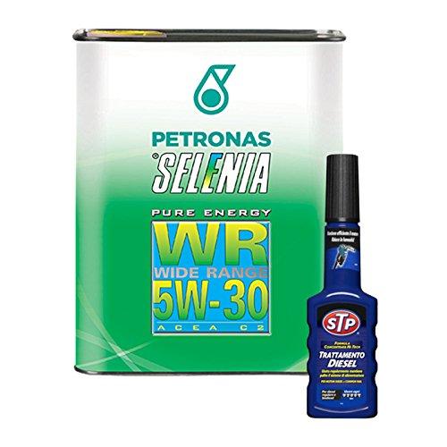 Kit 3 litri olio motore auto Selenia WR 5W30 + additivo trattamento diesel STP