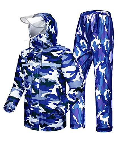 Coutyuyi - Chaqueta impermeable y Trouser Suit Raincoat Unisex Rain Suit Outdoor...