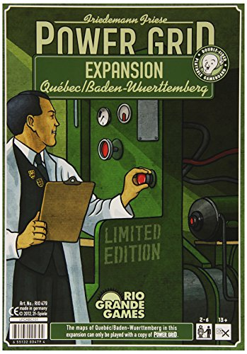 [Import Anglais]Power Grid Quebec & Baden-Wurttemberg Expansion Pack