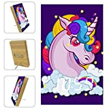 Shiiny Purple Unicorn Background Digital Alarm Clock, Electronic LED Time Display, Temperature Detect, Electric Clocks for Bedroom, Bedside