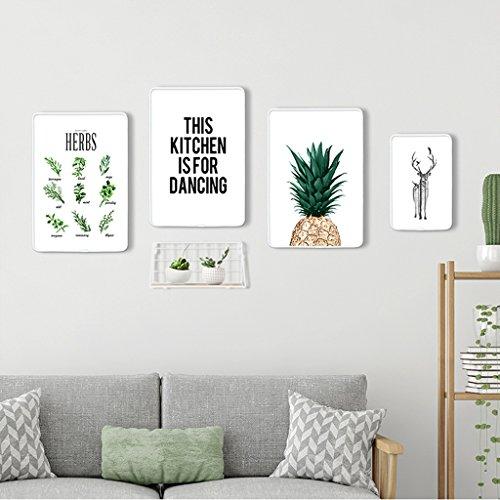 Ensemble de cadre photo, 4 Set Collage de cadres photo, combinaison créative avec cadre de fer (Couleur : B)