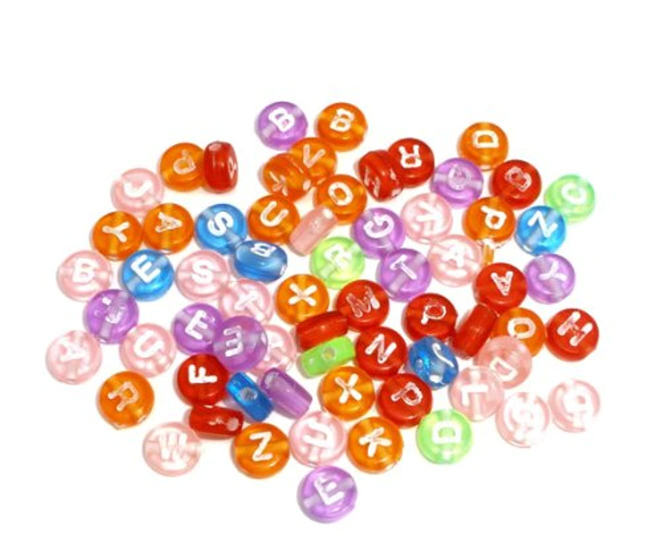 200pc Mixed Transparent Acrylic Letter Spacers Beads 7mm Findings