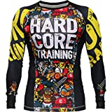 Rashguard Hardcore Training X Manto Doodles-xl MMA BJJ Fitness Grappling Camiseta de...