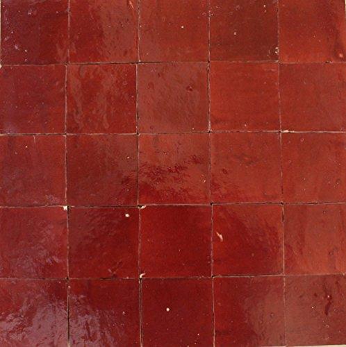 20Stk. Keramikfliesen Zelliges marokkanische Fliesen (weinrot)