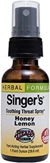 Singer's Saving Grace Honey Lemon - Promotes Voice Clarity & Vocal Comfort - Herbal Remedy Soothes Moistens & Lubricates T...