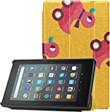 All-New Amazon Fire 7 Tablet Case (9th Generation, 2019 Release) Slim Fit Pu Leather Standing Duck Toy Flat Iconeps 10 Pattern Fire 7 Tablet Standing with Auto Wake/Sleep