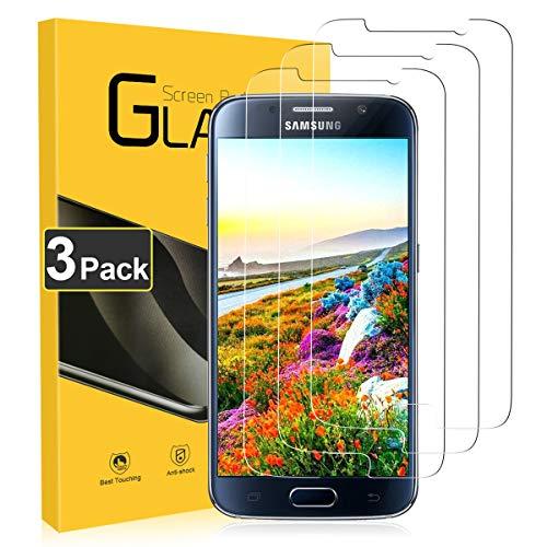 CRXOOX 3 Stück Panzerglas für Samsung Galaxy S6 Schutzfolie Anti Kratzen Empfindliche Berührung Blasenfrei Einfache Montage Panzerglasfolie für Samsung Galaxy S6 Displayschutzfolie Transparent
