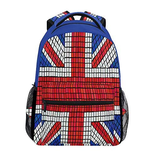 Bandera De Inglaterra UK Mochila de Estudiantes Hombro Mochilas para Viajes Escolar Niños Niñas