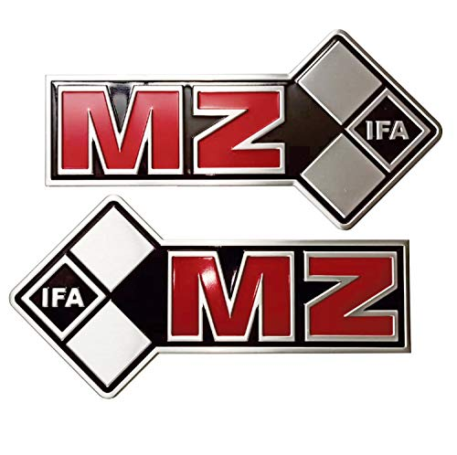 MZ ETZ 250 3D Sticker Logo Made of Durable Materials with Excellent Quality and Waterproof Adhesive, 2 Items.
