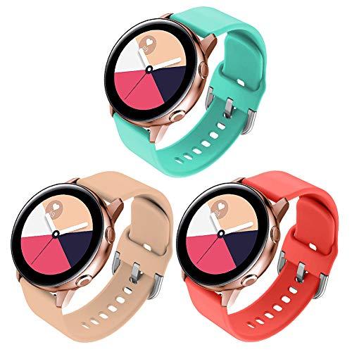FunBand Correa para Galaxy Watch 42mm, 20mm Reemplazo de Banda de Silicona Deportiva Pulsera para 20mm Universal Strap/Gear Sport/Gear S2 Classic/Galaxy Watch 42mm/Galaxy Watch Active