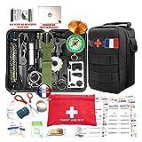Kit de survie d'urgence 88 en 1 [ Nouveau Model 2020 ] Avec Trousse de Premiers Secours,Couteau de...