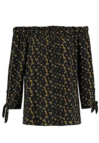 Sublevel Damen Carmen-Bluse mit Blumen Print schulterfrei Yellow M