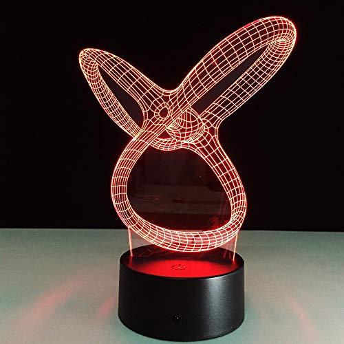 Tratto unico Luce notturna Lampada LED 3D Lampada USB Lava Lamp colorata per matrimoni Festa innovativa Festa della mamma Regalo presente