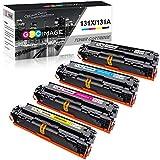 GPC Image Compatible Cartuchos de tóner Reemplazo para HP 131X 131A CF210X CF211A CF213A CF212A para HP Laserjet Pro 200 Color M251n M251nw, MFP M276n M276nw, 4-Pack (Negro/Cian/Magenta/Amarillo)
