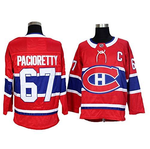 Yajun Max Pacioretty#67 Montreal Canadiens Eishockey Trikots Jersey NHL Herren Sweatshirts Atmungsaktiv T-Shirt Bekleidung,Red,M