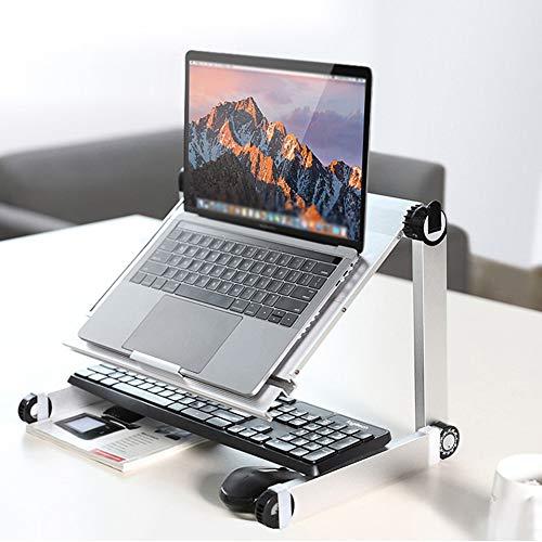 Vassoi di appoggio per PC portatili Laptop Stand Pieghevole regolabile Altezza lega di alluminio aria Ventilazione colazione Vassoio leggio Desk per G