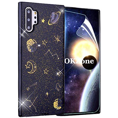 OKZone Funda Samsung Galaxy Note 10 Plus [con Protector Pantalla],[Serie Noche Estrellada]...
