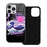 Tonamyuzm Hokusai Fuji Sunset TPU Case Vidrio Templado Phone Cover por Funda iPhone 12mini-5.4 style-B371