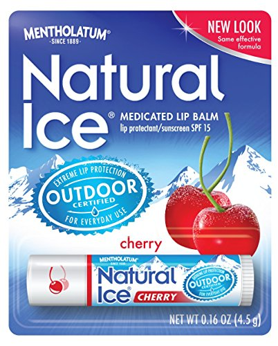 Natural Ice Cherry - SPF 15 Lip Balm in Pack of 12 (4.5g Each), Cherry Flavor