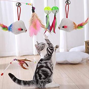 Phogary 20 Jouets De Chat, Chaton Chaser Jouets, Teaser De Plumes Interactif, Jouets Souris, Balles Et Cloches pour Chat Intérieur Kitty